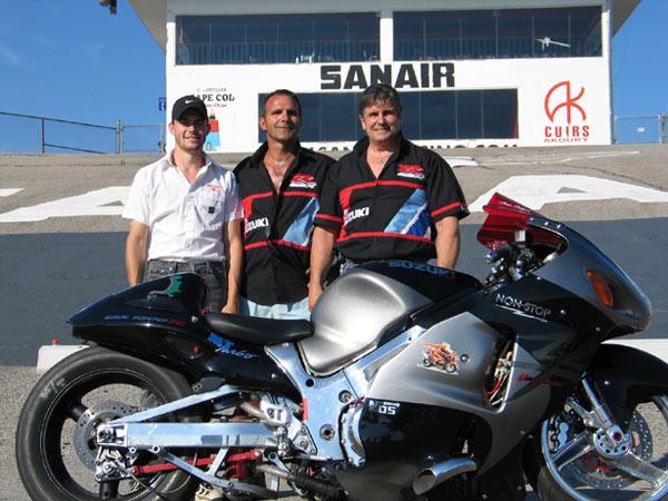 Sanair double moto 2 for Bettencourt s honda suzuki